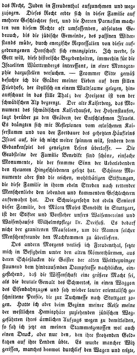Texte zur Geschichte der jüdischen Gemeinde in Freudental (Kreis ...