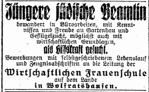 Jüdische Einrichtungen - Jüdische Landheim und Wirtschaftliche ...