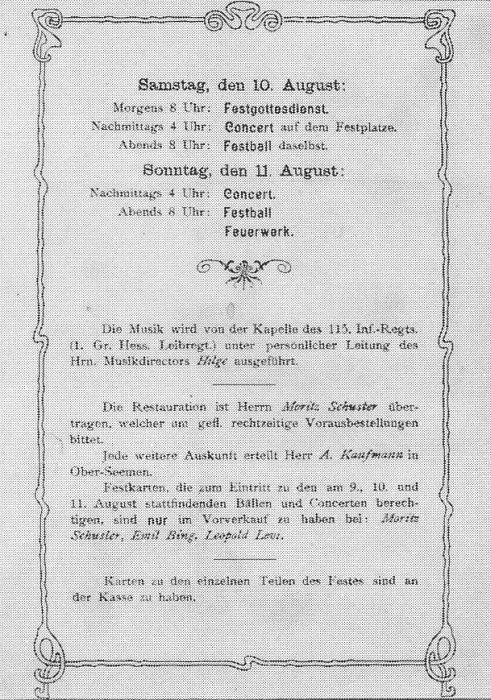 die synagoge in ober-seemen (stadt gedern, wetteraukreis), Einladung