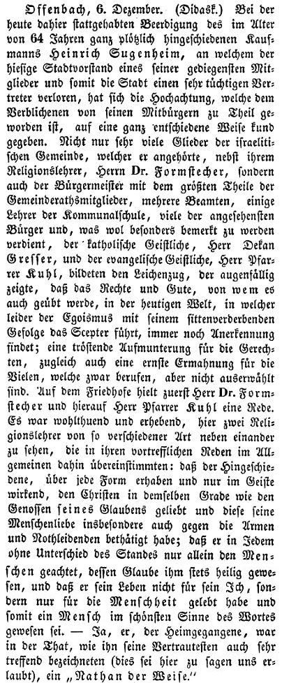 Berichte zu einzelnen personen aus der j dischen gemeinde for Kaufmann offenbach