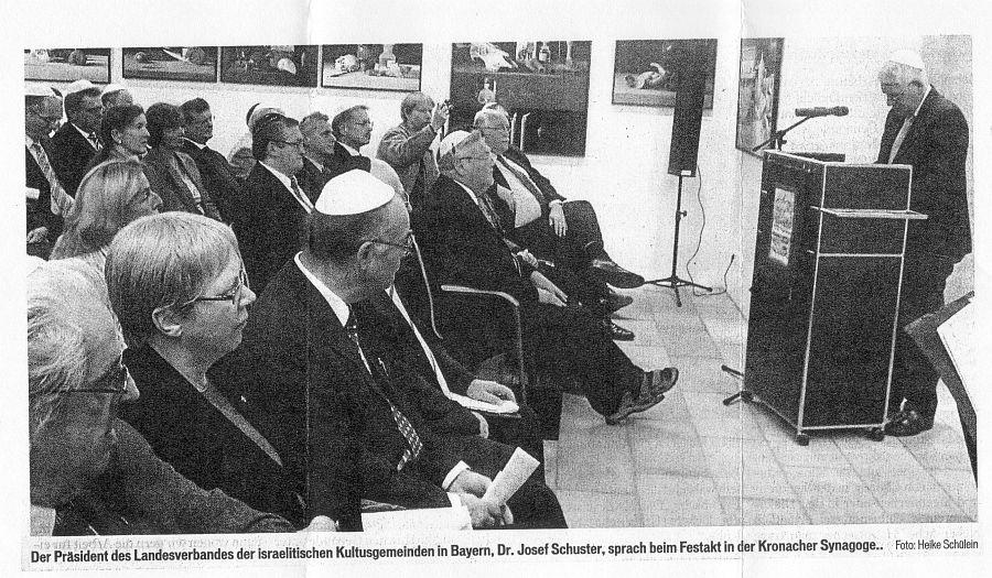 Die Synagoge in Kronach Oberfranken