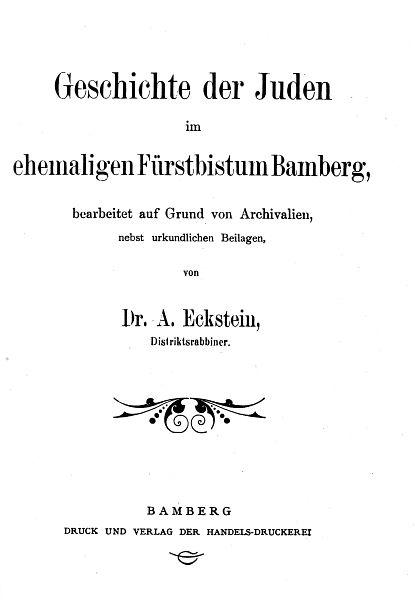 Texte Zur Geschichte Der J U00fcdischen Gemeinde In Bamberg