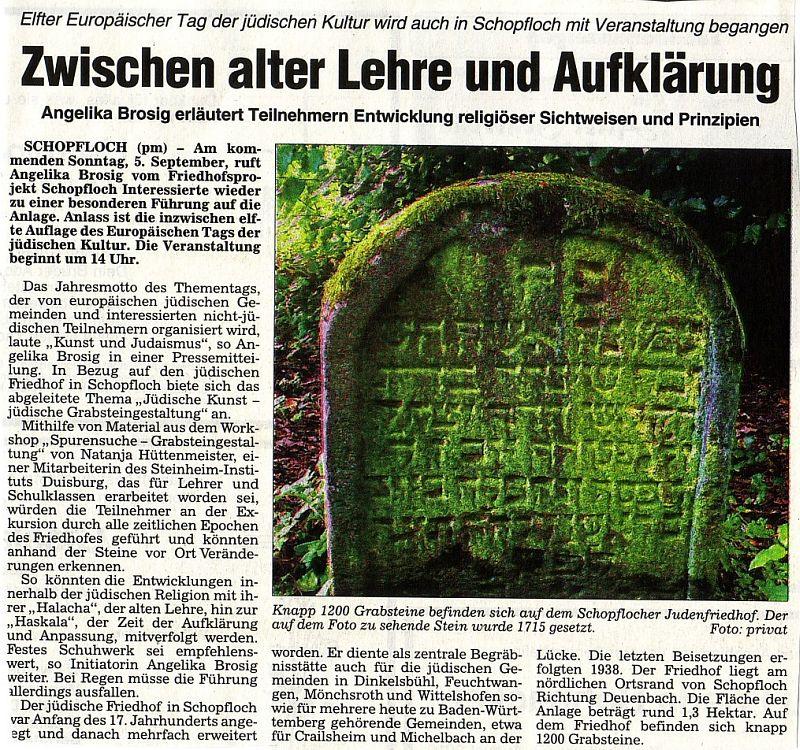 """Artikel in der Zeitschrift """"Funkfeuer"""" """" Rotary ehrt Angelika Brosig ..."""