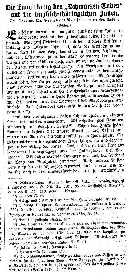 Texte Zur Jüdischen Geschichte In Erfurt Im 1920 Jahrhundert