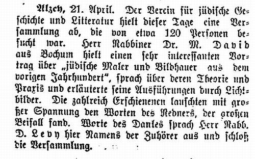 Texte Zur J U00fcdischen Geschichte In Alzey  Landkreis Alzey