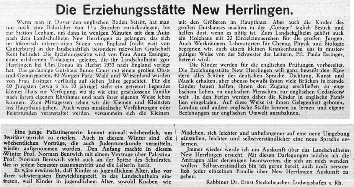 Zur Geschichte jüdischer Einrichtungen in Herrlingen (Gemeinde ...