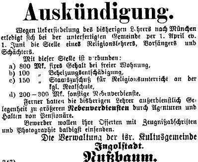 die synagoge in ingolstadt (bayern), Einladung