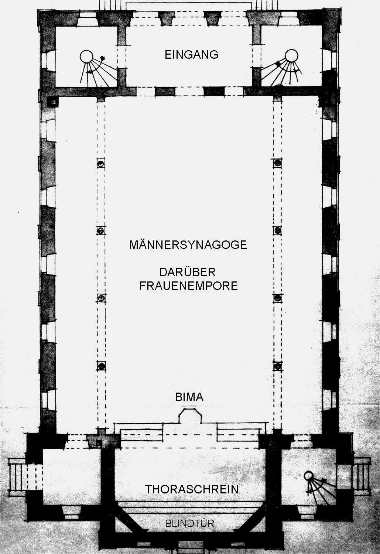 Synagoge Grundriss